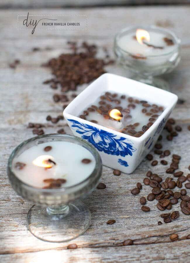 Kerzen gießen mit Kaffebohnen - Tischdeko selber machen