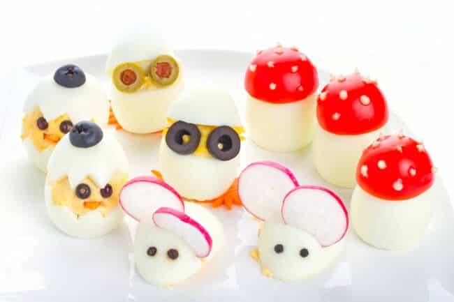 Eier für Kinder lecker gestalten - Eierküken, Mäuse