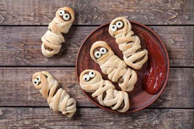 Mumien-Würstchen - Leckerei für Kindergeburtstags-Partys