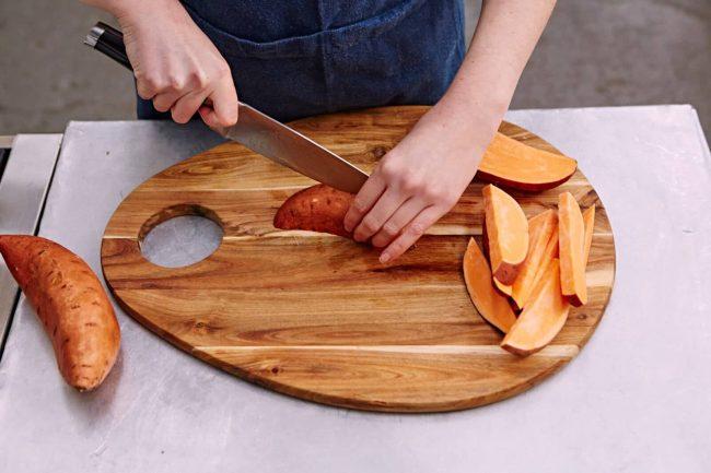 Süßkartoffel schneiden - gesunde Rezepte