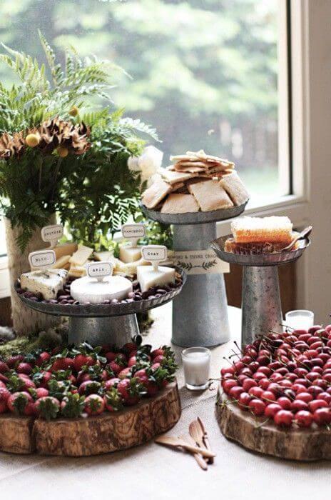 Rustikale Tischdeko für Hochzeitsdekoration