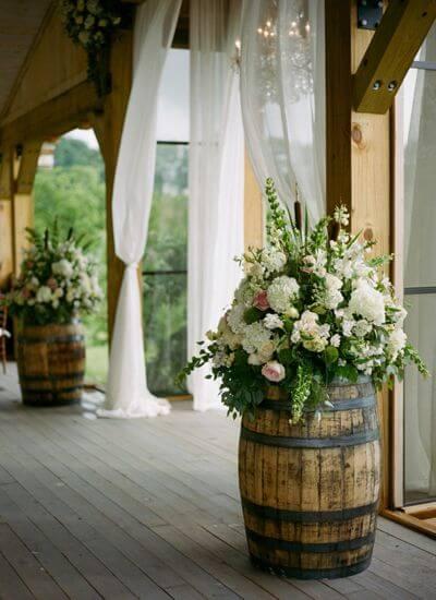 Rustikale Blumen-Deko-Hochzeitsdekoration Inspirationen