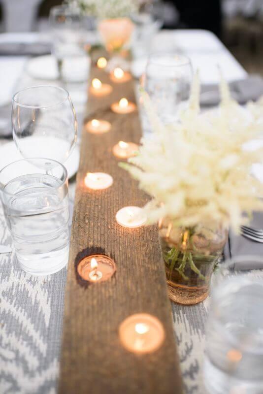 Teelichthalter aus Holz-rustikale Hochzeitsdeko