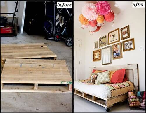 DIY Wohndeko - Möbel aus Europaletten bauen
