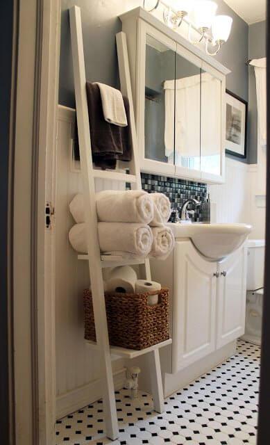So kannst du am schönsten eine Leiter in dein Interieur einarbeiten - Badezimmer