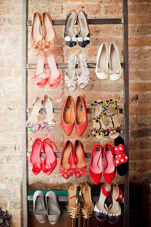 So kannst du am schönsten eine Leiter in dein Interieur einarbeiten - DIY Schuhschrank