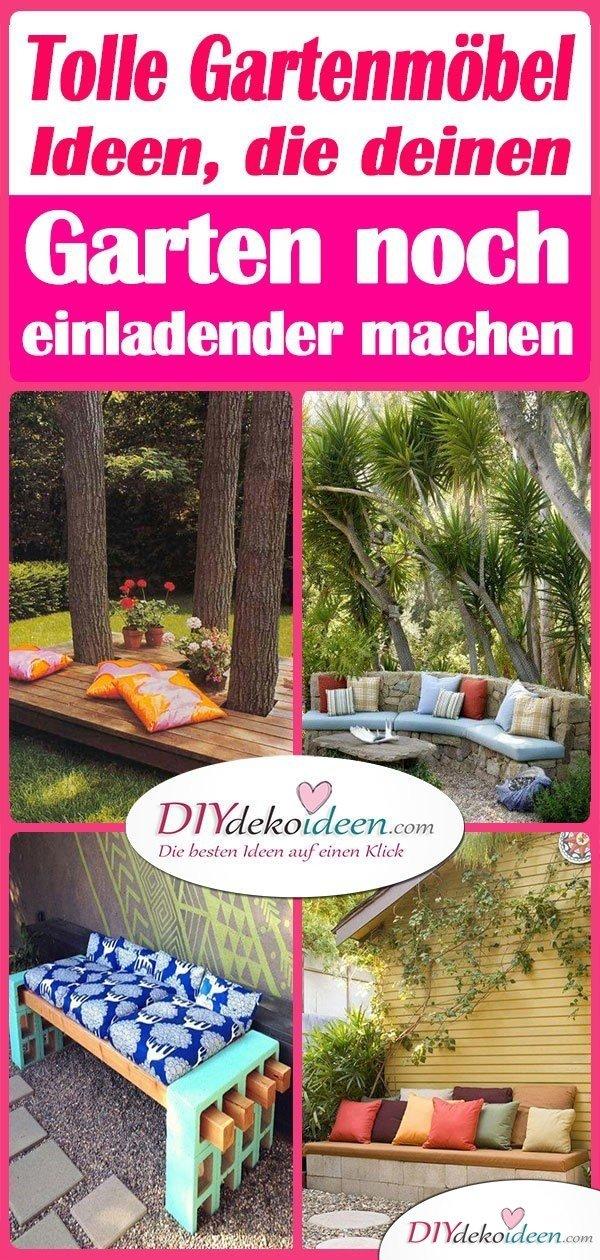 Tolle Gartenmöbel Ideen, die deinen Garten noch einladender machen