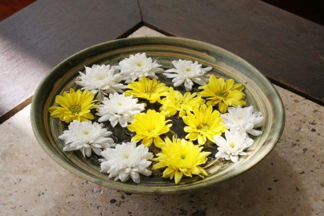 Schwimmende Blumen Deko - Raumduft zum Selbermachen