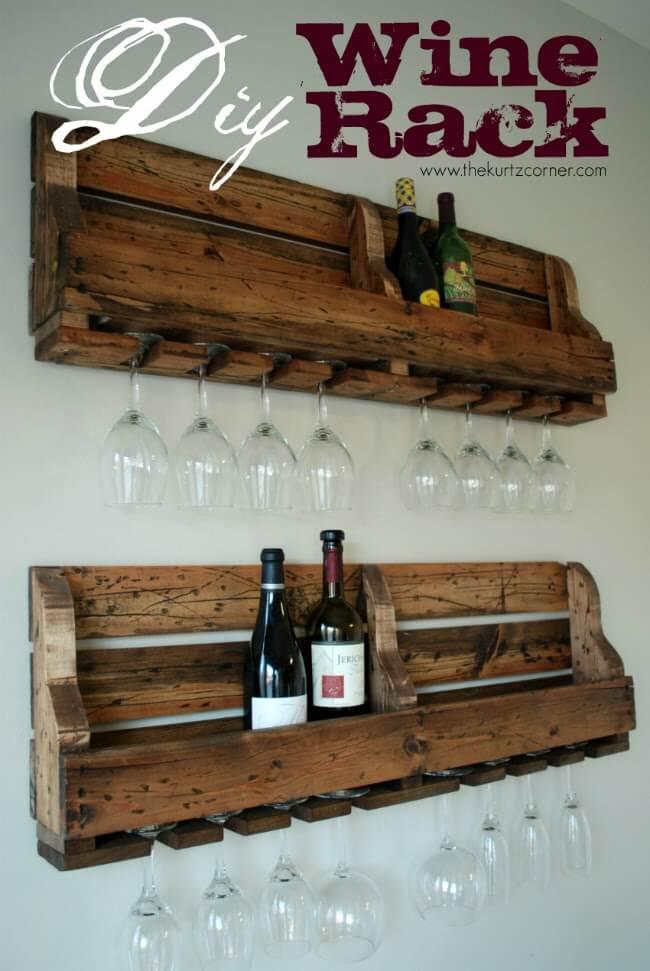 Weinregal selber machen-DIY Küchendeko-Ideen