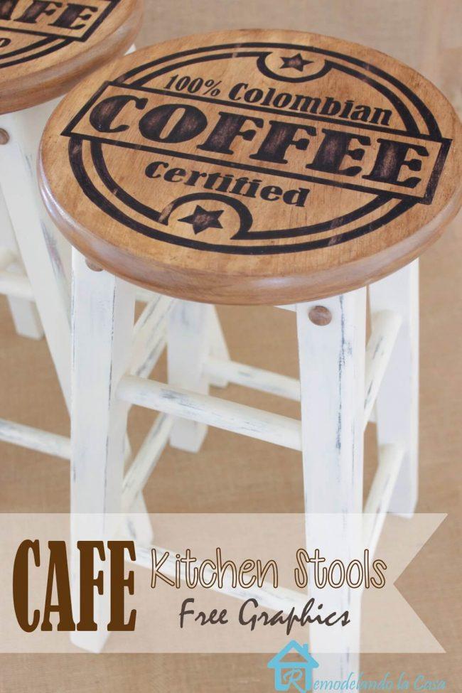 Küchendeko-Ideen-Baarstuhl selber machen-DIY Küchendeko