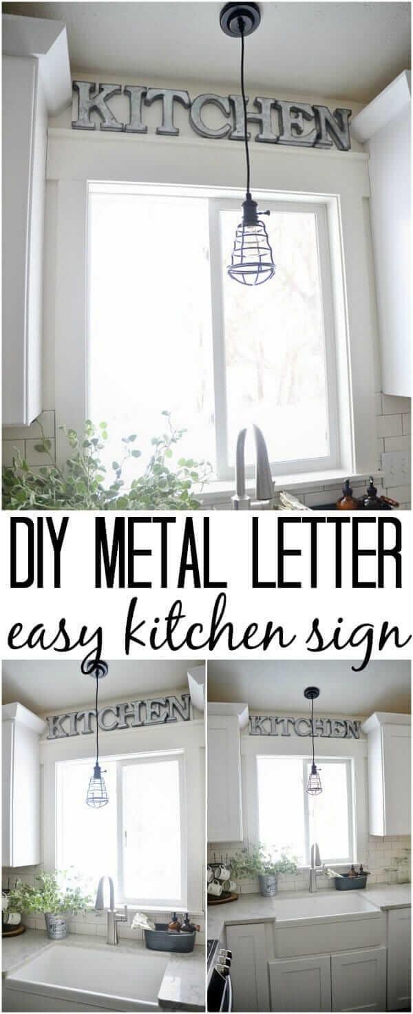 DIY Metall Buchstaben selber machen-DIY Küchendeko-Ideen