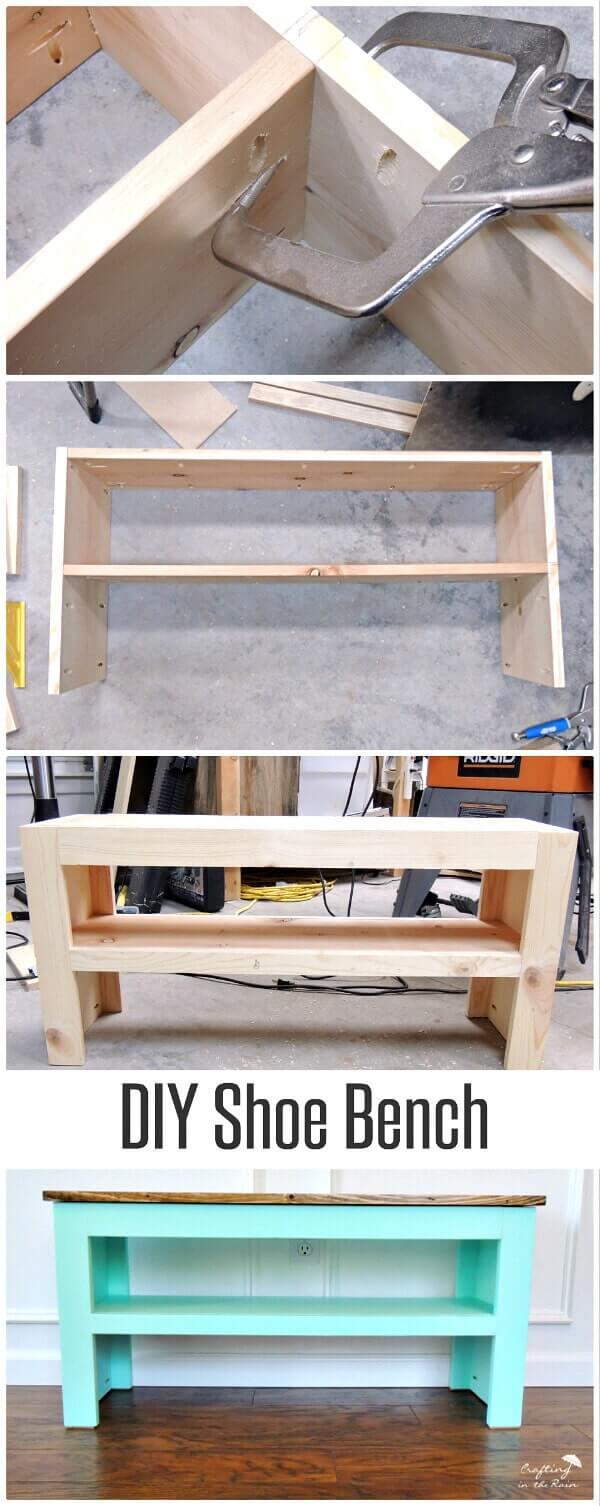 DIY Schuhbank - Möbel selber machen
