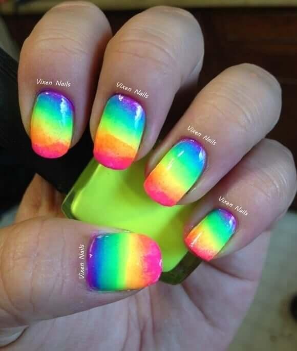 Regenbogen Designideen - DIY Nägelmotive zum Nachmachen
