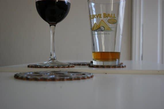 DIY Glasuntersetzer - Geschenkideen für Männer
