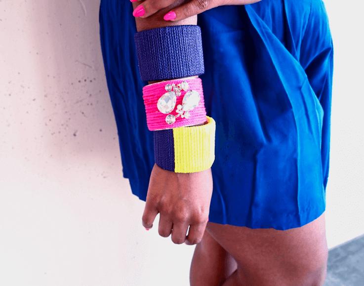 Extravagante Armbänder zum Selbermachen - bunte DIY Accessoires