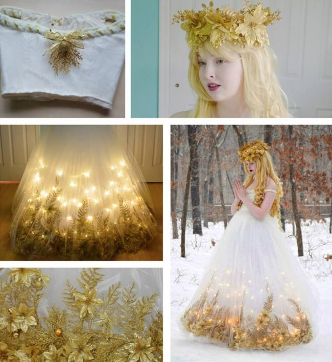 Damenkleider selber basteln - ausgefallene Kleider - leuchtendes Kleid
