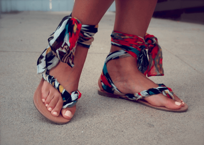 DIY Gladiator Flip-Flops selber machen