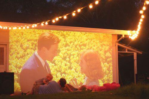 DIY Kino-Gartenkino selber gestalten-Gartengestalung Ideen