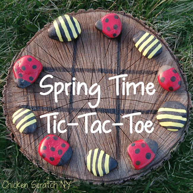 Tic Tac Toe Spiel aus Holz basteln-Garten Bastelideen-Gartengestaltung
