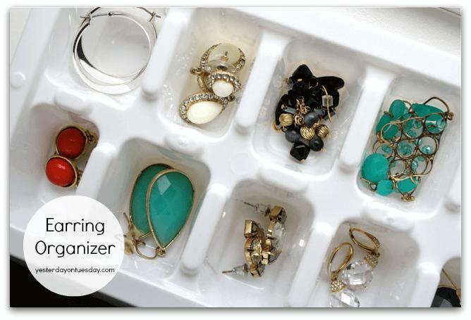 Eiswürfelbehälter als Schmuckaufbewahrung verwenden - DIY Organisierung