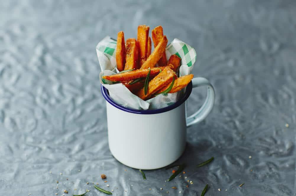 Leckere Pommes aus Süßkartoffeln machen