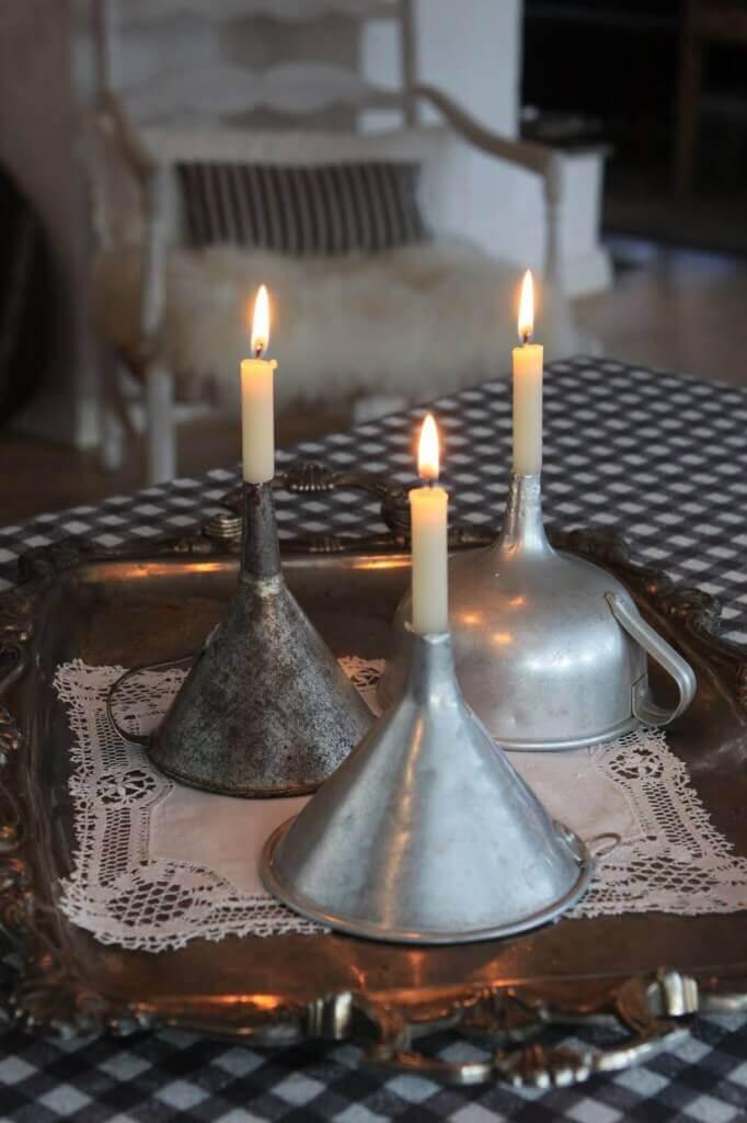 DIY Deko-rustikale Kerzenhalter