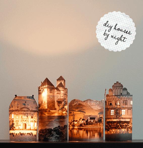DIY Mini Häuschen-Lichter selber machen