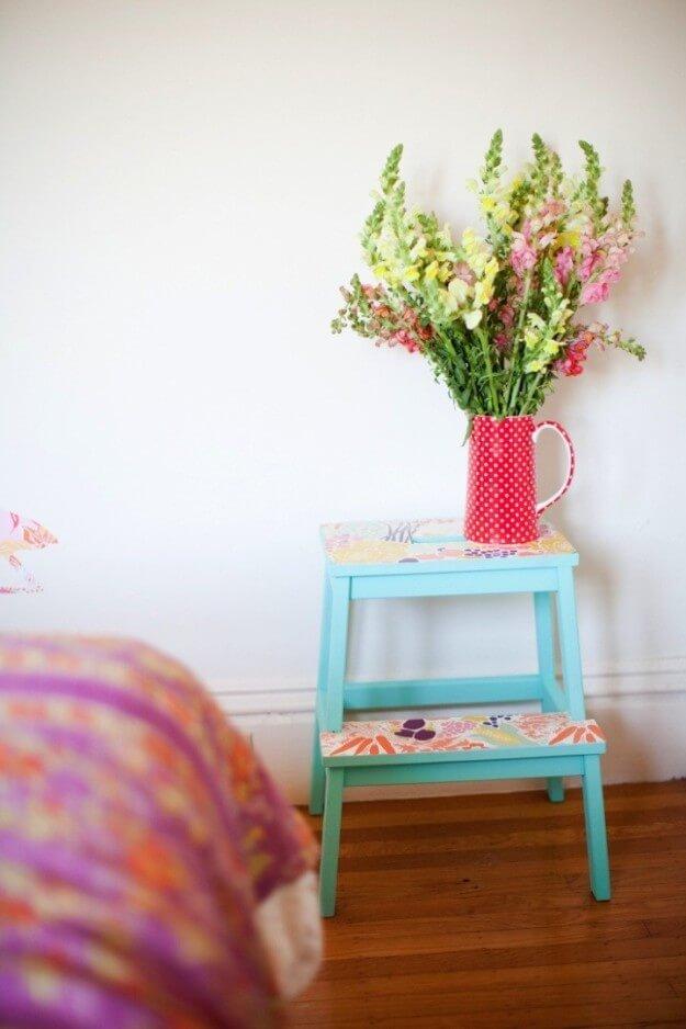 DIY Hocker - Dekoration zum Selbermachen - Inspirationen mit Farben