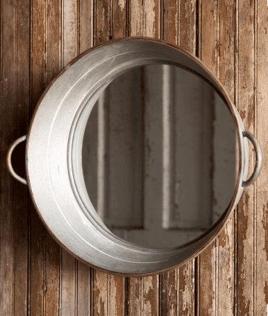 DIY Spiegel - Wanddeko selber machen aus Zinkeimern