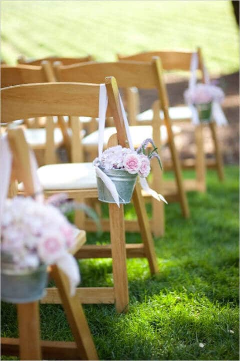 Hochzeitsdeko Ideen mit Zinkeimern - DIY Deko Ideen