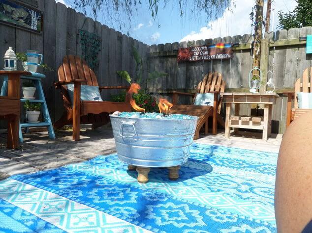 DIY Feuerstelle - Zinkeimer wiederverwenden - Gartenparty Ideen