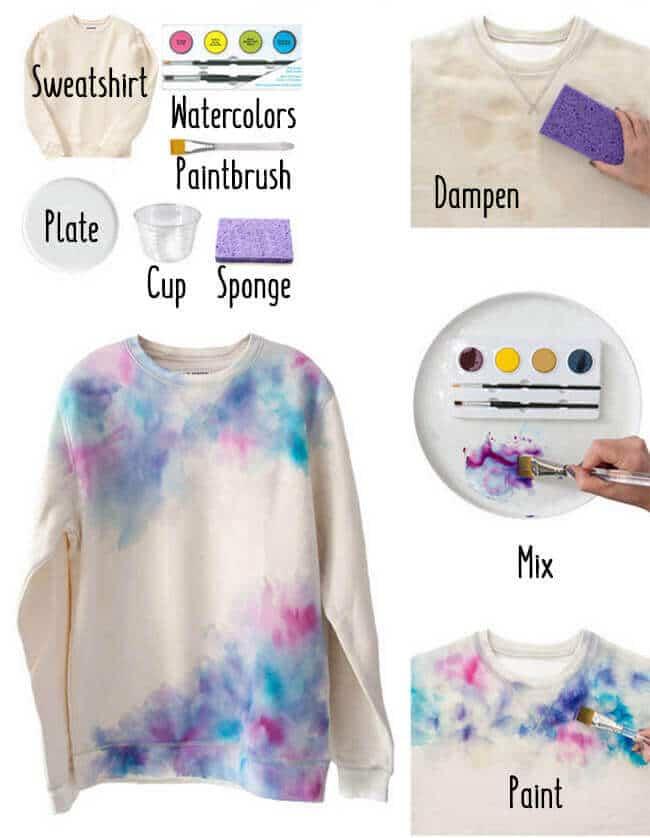 DIY Pulli verschönern - bunten Pullover selber machen