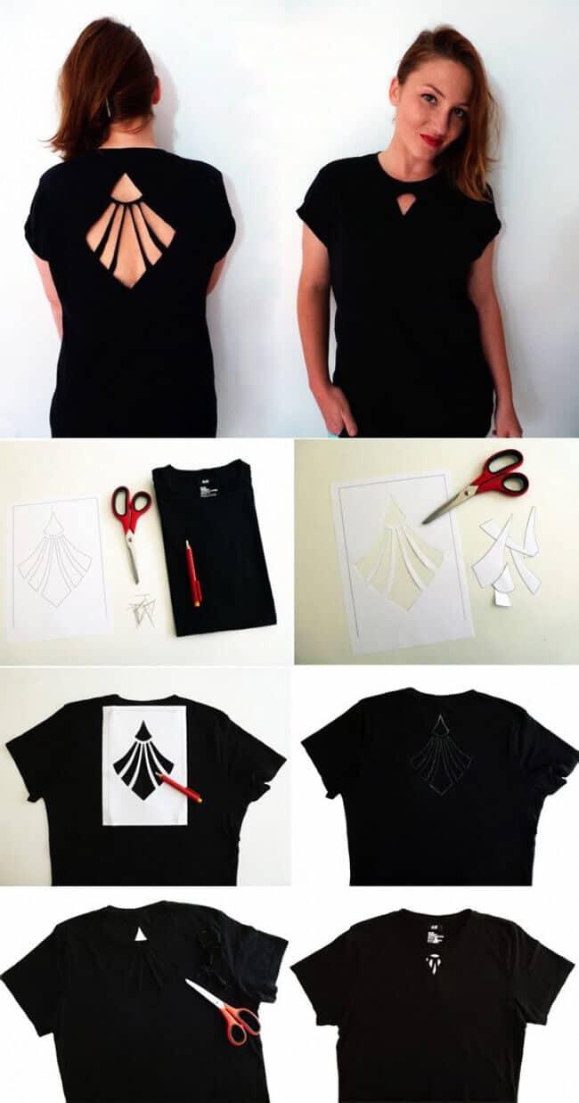 Schönen Oberteil selber machen - DIY Sommer T-shirt basteln