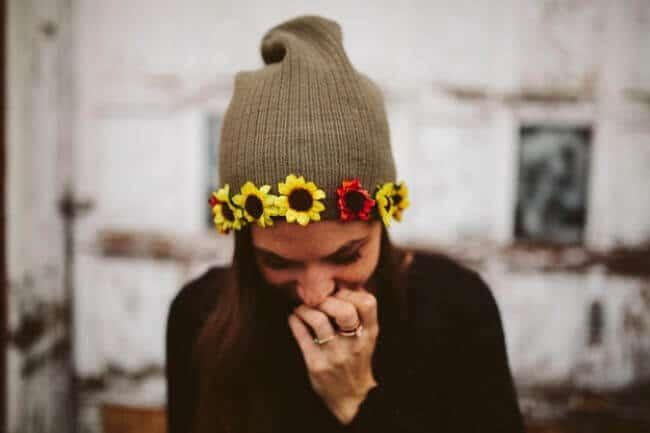 Mütze verschönern - Blumen an Mützen nähen - DIY Mode
