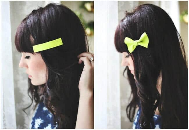 Schleifen-Haarklammern selber machen - DIY Haarschmuck