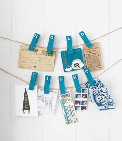 12 hübsche Deko Ideen mit Wäscheklammern Notizenklammer - praktische Wohndeko basteln