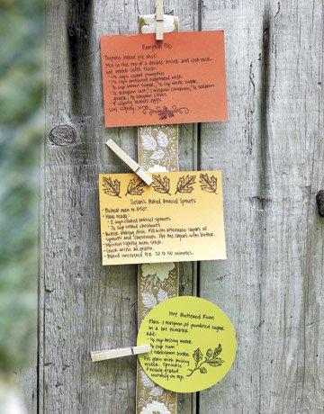 Rezeptkarten-Halter aus Wäscheklammern kreieren