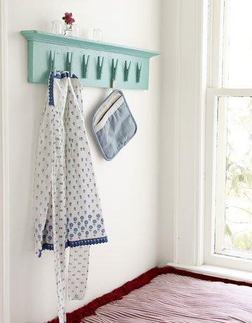 Deko Ideen mit Wäscheklammern Vintage-Regal selber machen