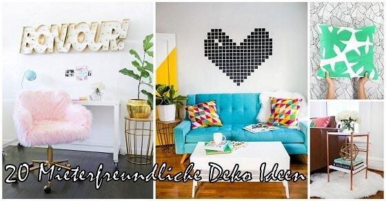 20 Mieterfreundliche Deko Ideen, die deine Wohnung verzaubern