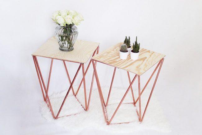 Designer-Beistelltisch selber machen - DIY Möbel