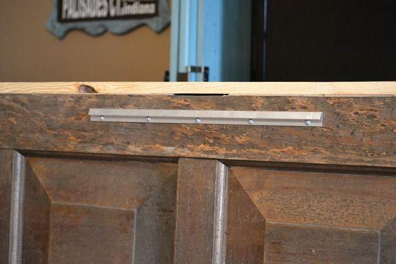 Kopfende selber basteln aus Holz-Alte Holztür wiederverwenden