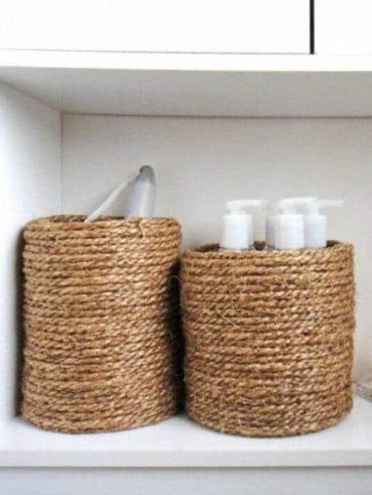 Schiffstau-Aufbewahrung für das Badezimmer basteln