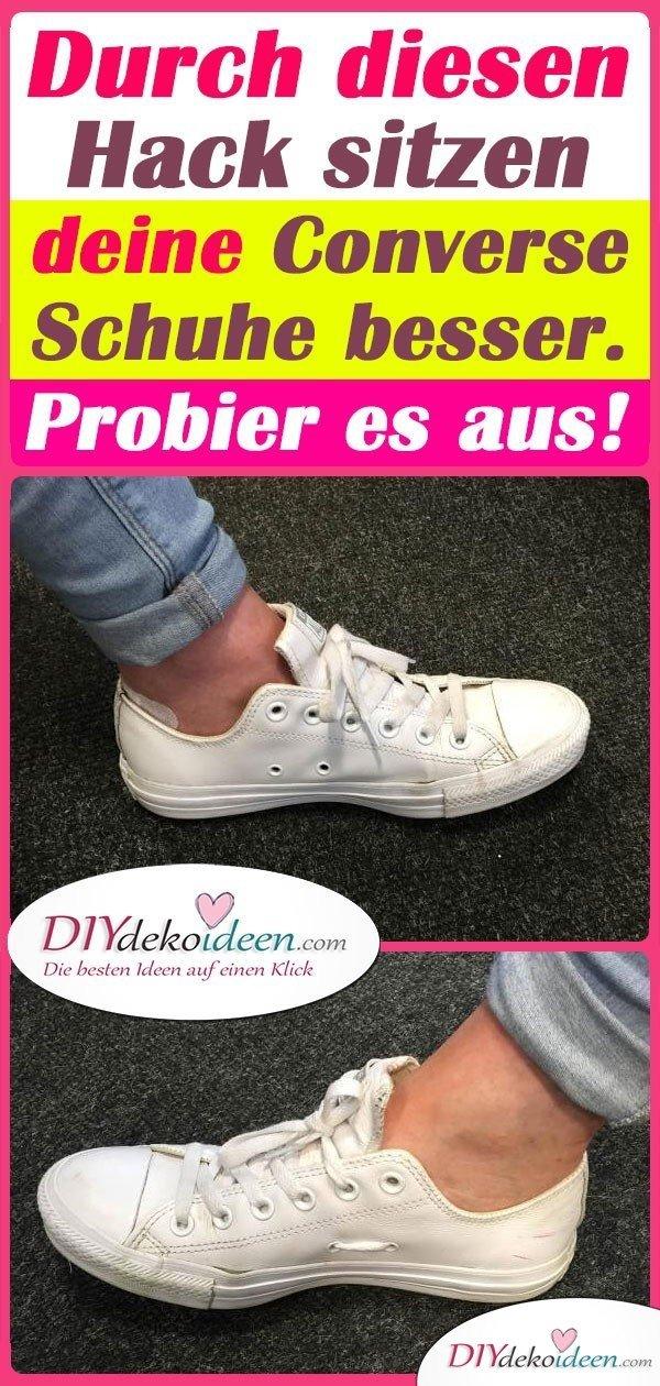 Durch diesen Hack sitzen deine Converse Schuhe besser. Probier es aus!