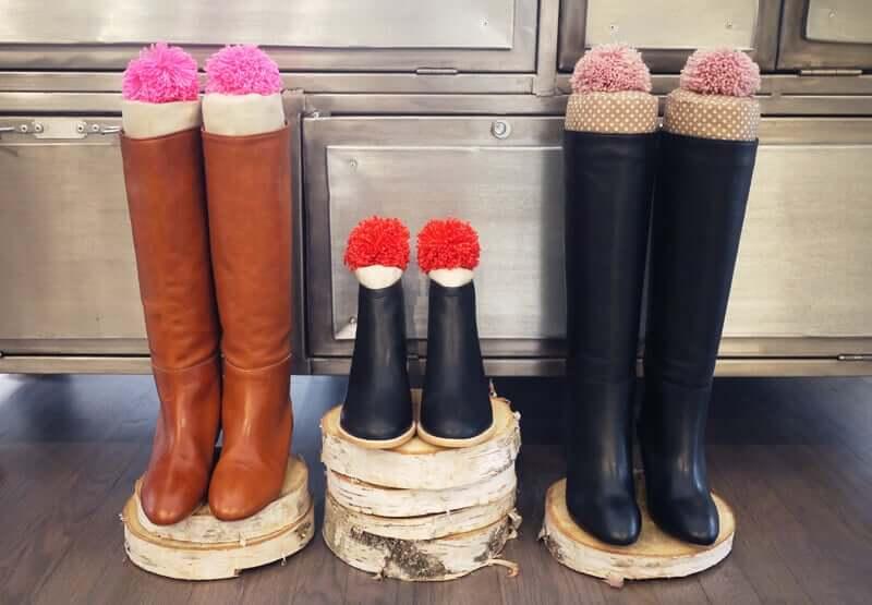 DIY Bastelidee-Schwimmnudel wiederverwenden für Stiefeln