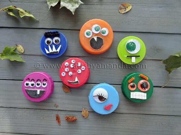 DIY Monster-Gesichter basteln mit Kleinkindern