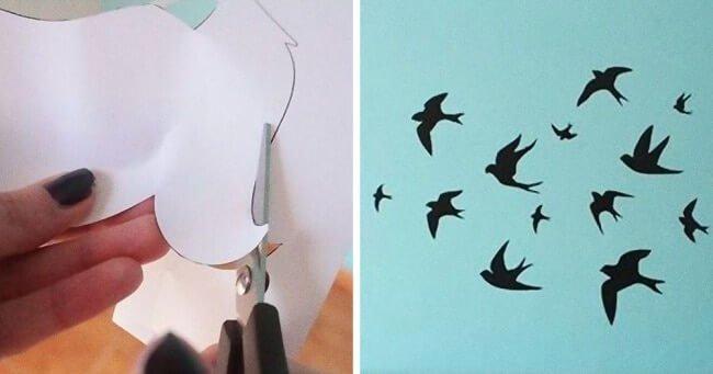Wanddeko selber machen aus Papier