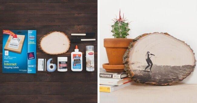 Fotos auf Holz übertragen - Rustikale Geschenke selber machen