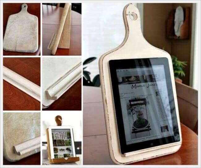 DIY Tablett-Halter