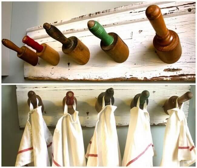 Nudelhölzer kreativ verwenden - Küchendeko selber machen