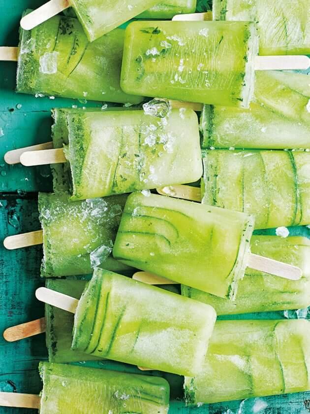 grüne Erfrischung für den Sommer - Limette, Gurke und Minze
